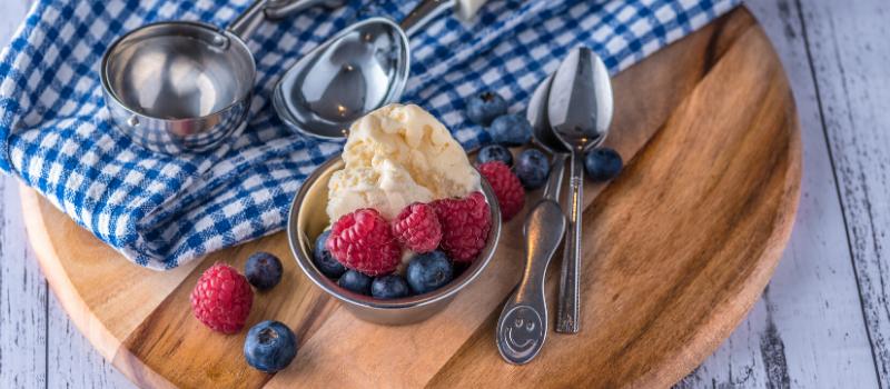 Vanille ijs maken zonder suiker