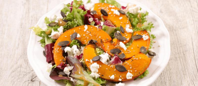 koolhydraatarme salade met pompoen