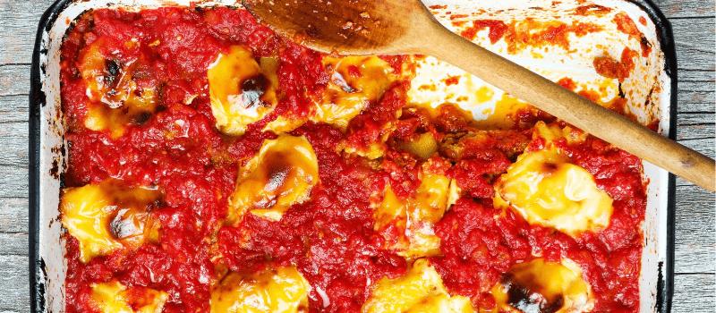 Italiaanse ovenschotel met courgette en tomaat