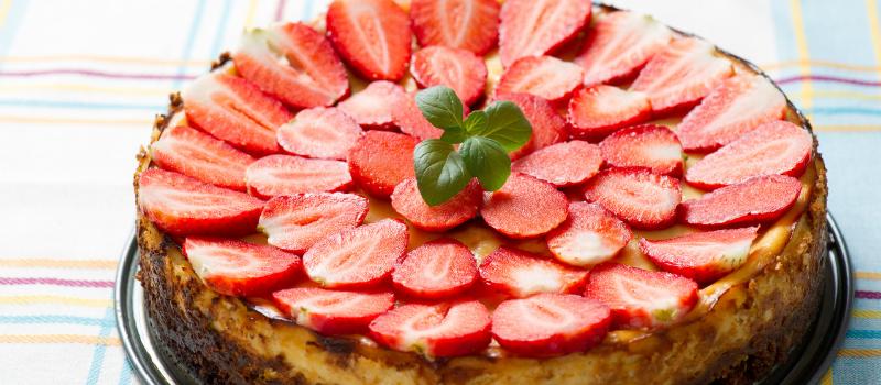 Koolhydraatarme aardbeien kwarktaart (1)