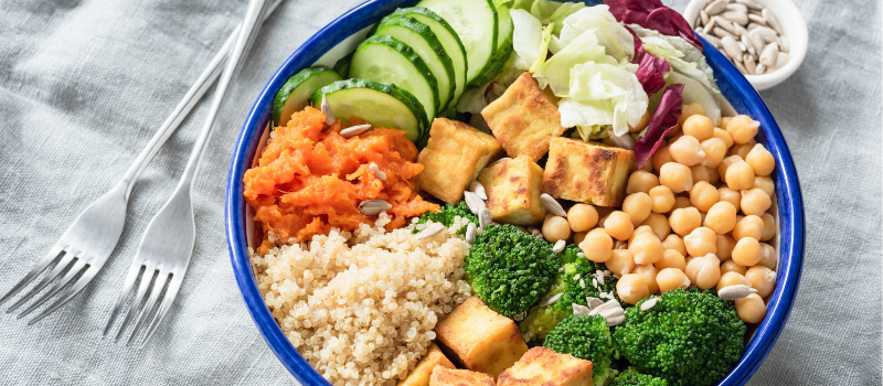 Koolhydraatarme vegan bowl