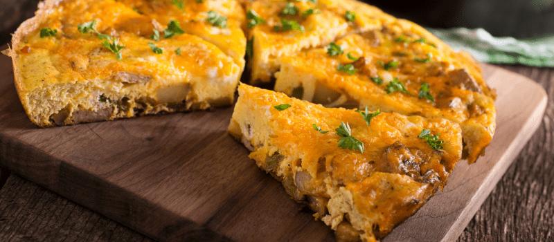 Frittata uit de oven maken
